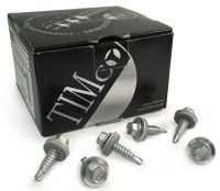100x TIMco 6.3 x 22mm / 25mm Hex Head Stitching Screws Light Section Sheet Steel
